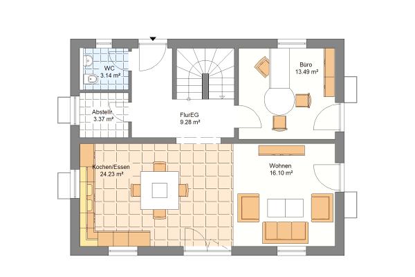 Aktionshaus Erdgeschoss Variante 2
