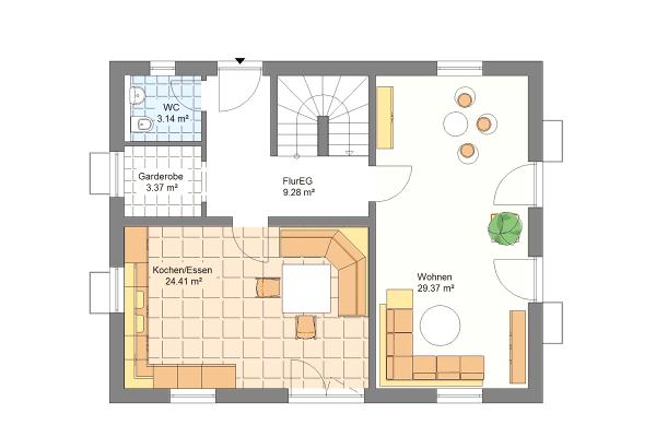 Aktionshaus Erdgeschoss Variante 3