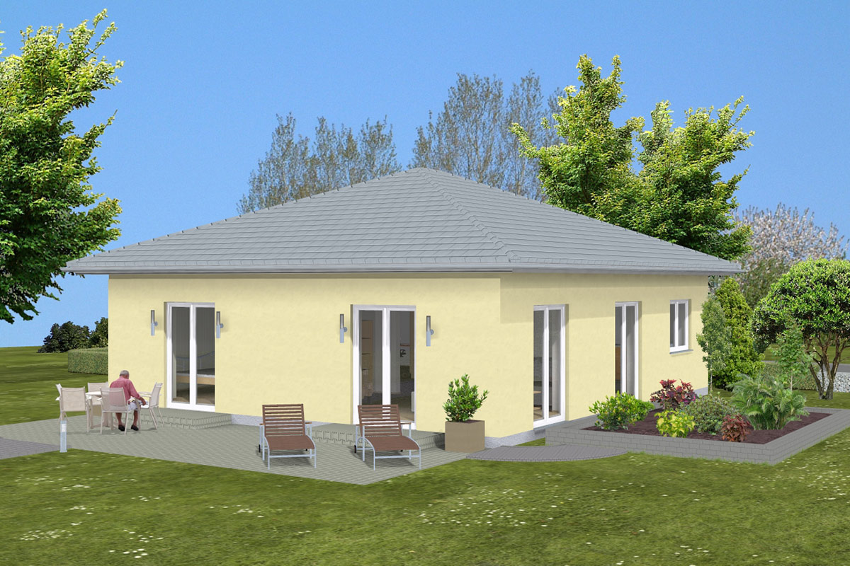 bungalow 01 bau ederer massiv und sicher bauen. Black Bedroom Furniture Sets. Home Design Ideas