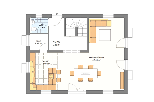 Aktionshaus Erdgeschoss Variante 1