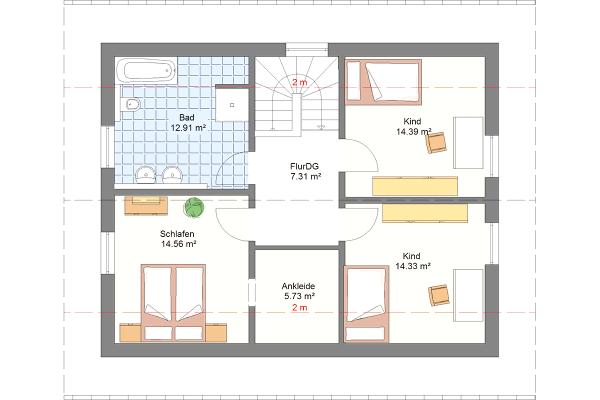 Aktionshaus Dachgeschoss Variante 1