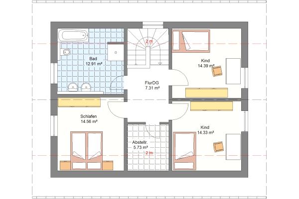 Aktionshaus Dachgeschoss Variante 3