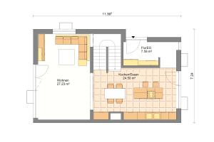 Doppelhaus 07 Erdgeschoss