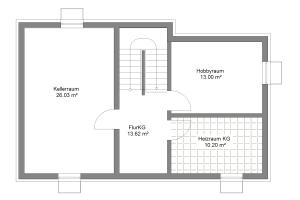 Einfamilienhaus 20 Kellergeschoss
