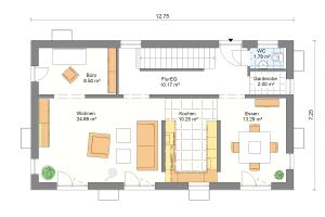 Einfamilienhaus 21 Erdgeschoss