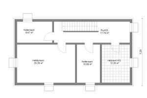Einfamilienhaus 21 Kellergeschoss