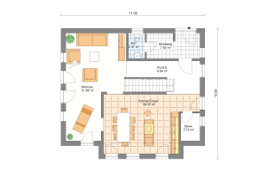 Einfamilienhaus 24 Erdgeschoss