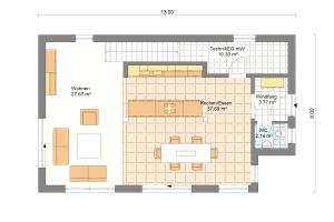 Einfamilienhaus 25 Erdgeschoss